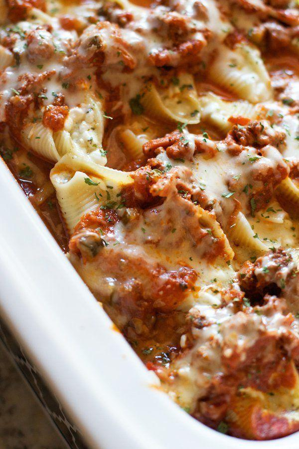 <strong>Get the <span>Crock Pot Pesto Stuffed Shells recipe</span> from Lauren's Latest</strong>