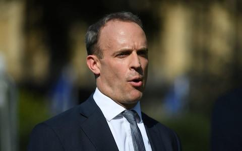 Dominic Raab admitted FCO officials asked police to delay telling Harry Dunn's family that Anna Sacoolas had left the country - Credit: Victoria Jones/PA
