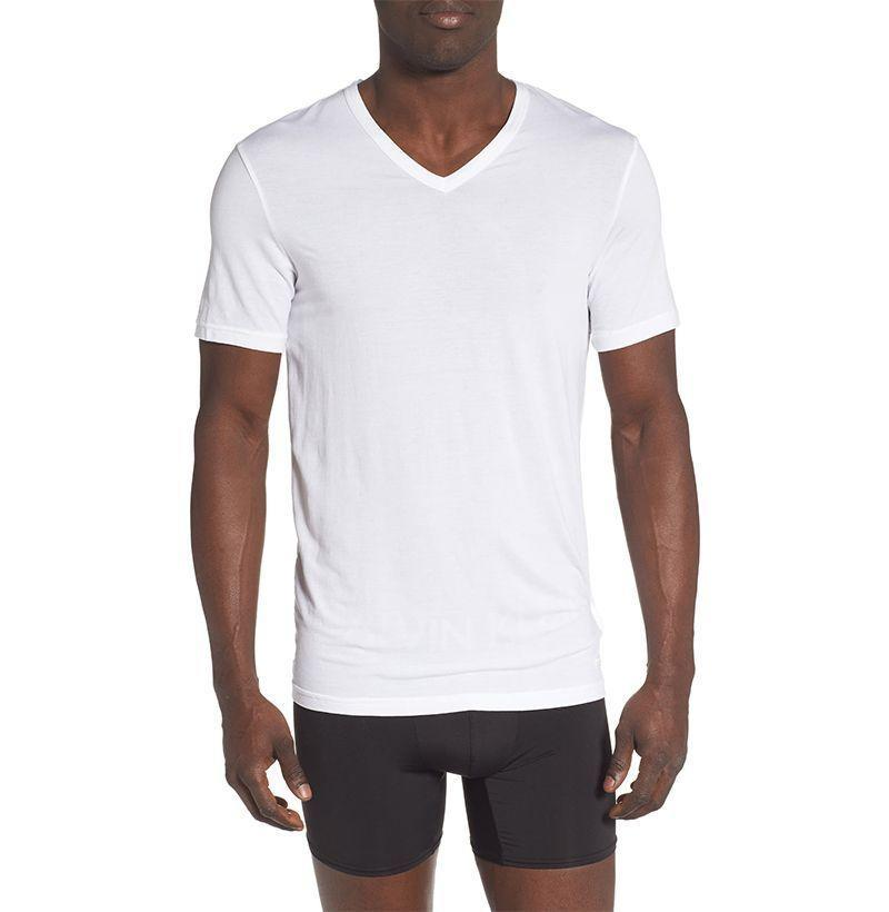"<p><strong>Calvin Klein</strong></p><p>nordstrom.com</p><p><strong>$25.50</strong></p><p><a href=""https://go.redirectingat.com?id=74968X1596630&url=https%3A%2F%2Fshop.nordstrom.com%2Fs%2Fcalvin-klein-ultrasoft-stretch-modal-v-neck-t-shirt%2F5510573&sref=https%3A%2F%2Fwww.esquire.com%2Fstyle%2Fmens-fashion%2Fg32734723%2Fbest-v-neck-t-shirts%2F"" rel=""nofollow noopener"" target=""_blank"" data-ylk=""slk:Buy"" class=""link rapid-noclick-resp"">Buy</a></p><p>The brand that made luxury undergarments a bona fide thing does the V-neck tee very right. </p>"