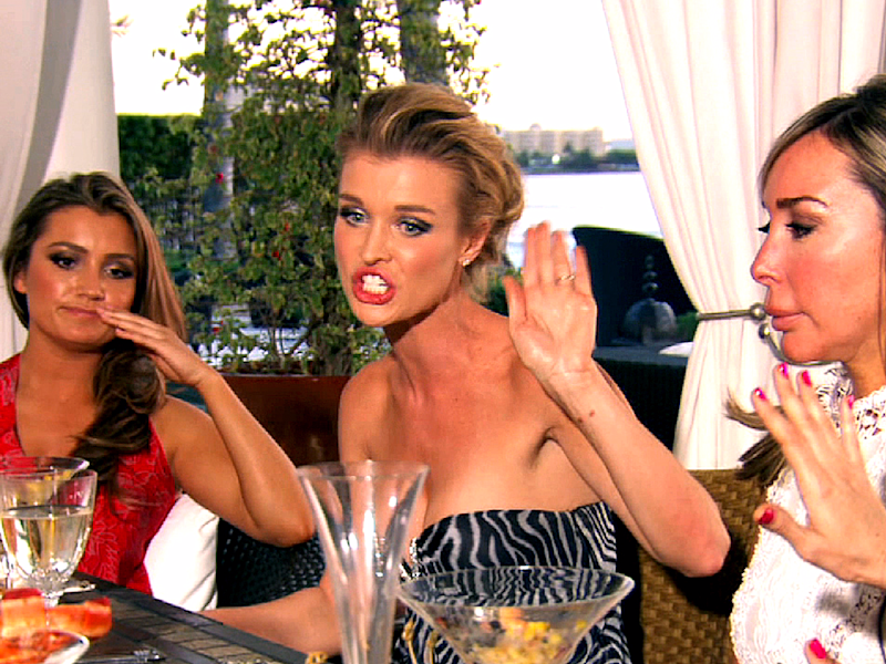 Real Housewives of Miami dinner fight