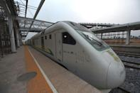 The line was built by the China Civil Engineering Construction Corporation at a cost of $1.6 billion