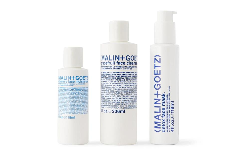 """Good style extends beyond what you've got *on* your body. Take proper care of your moneymaker, and it'll take care of you right back.<br> <br> <em>Malin + Goetz Saving Face set</em> $90, Mr Porter. <a href=""""https://www.mrporter.com/en-us/mens/product/malin-and-goetz/grooming/skincare-sets/saving-face-set/44733502651274281"""" rel=""""nofollow noopener"""" target=""""_blank"""" data-ylk=""""slk:Get it now!"""" class=""""link rapid-noclick-resp"""">Get it now!</a>"""