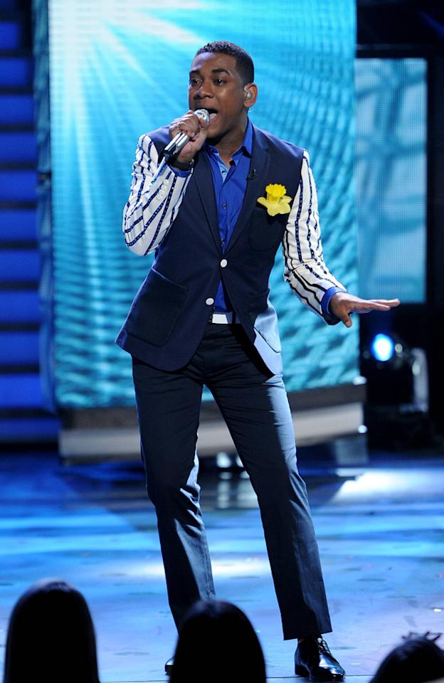 "Joshua Ledet performs ""Ain't Too Proud to Beg"" by The Temptations on ""<a target=""_blank"" href=""http://tv.yahoo.com/american-idol/show/34934"">American Idol</a>."""