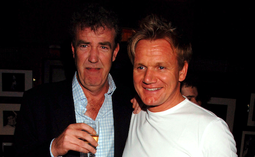 Jeremy Clarkson and Gordon Ramsay attend private party at Ronnie Scott's hosted by Gary Farrow on March 15, 2007 in London, England. (Photo by Dave M. Benett/Getty Images)