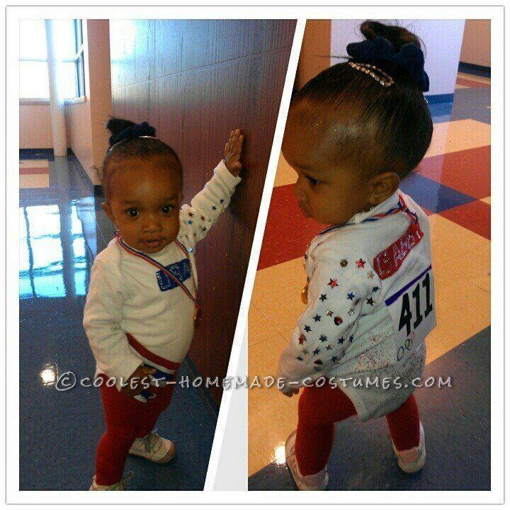 """<a href=""""http://ideas.coolest-homemade-costumes.com/2013/09/29/last-minute-diy-toddler-costume-usa-olympic-gold-medalist-gymnast-gabby-douglas/"""" target=""""_blank"""">vía Coolest Homemade Costumes</a>"""