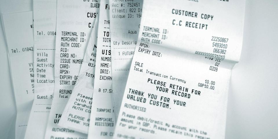 <p>Most receipts have been found to contain BPA, a toxic chemical</p> (iStock)