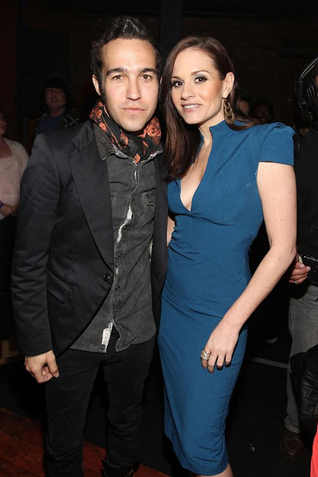 "Another former ""Idol"" judge, Kara DioGuardi, struck a pose with Pete Wentz, who's been flying solo at events since separating from wife Ashlee Simpson. Christopher Polk/<a href=""http://www.gettyimages.com/"" target=""new"">GettyImages.com</a> - April 7, 2011"