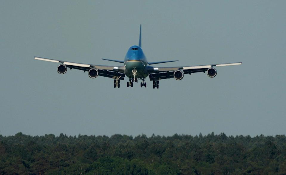 Air Force One lands in the UK (AP)