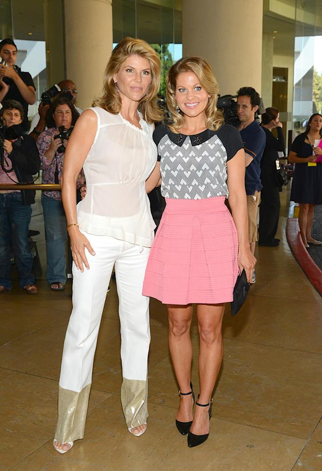 BEVERLY HILLS, CA - JULY 24: Lori Loughlin and Candace Cameron Bure arrive at the Television Critic Association's Summer press tour - Hallmark Channel & Hallmark Movie Channel party at The Beverly Hilton Hotel on July 24, 2013 in Beverly Hills, California. (Photo by Araya Diaz/WireImage)
