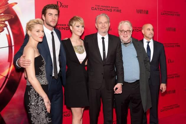 'Hunger Games' Elizabeth Banks, Liam Hemsworth, Jennifer Lawrence, Francis Lawrence, Philip Seymour Hoffman, and Stanley Tucci -- Getty Images
