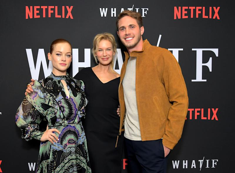 WEST HOLLYWOOD, CALIFORNIA - MAY 16: Jane Levy, Renée Zellweger and Blake Jenner attend Netflix's 'WHAT / IF' Special Screening at The London West Hollywood on May 16, 2019 in West Hollywood, California. (Photo by Charley Gallay/Getty Images for Netflix)