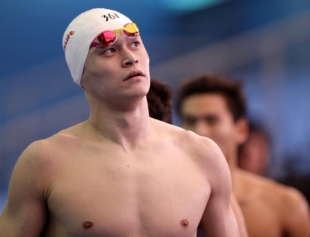 China's Sun Yang will not be able to compete in the 2020 Tokyo Olympics after CAS banned him for eight years. (AP Photo/Mark Schiefelbein)