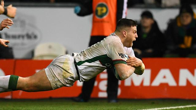 Northampton Saints looked to be heading top of the Premiership until London Irish sprung a shock following Api Ratuniyarawa's dismissal.
