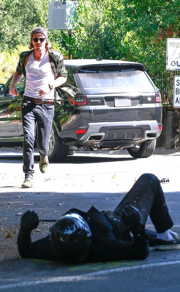 Garrett Hedlund, Injured Motorcyclist