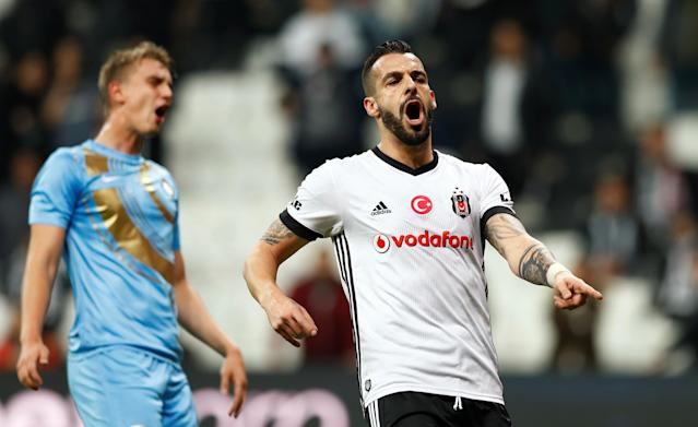 Soccer Football - Super Lig - Besiktas vs Osmanlispor - Vodafone Arena, Istanbul, Turkey - December 17, 2017 Besiktas' Alvaro Negredo reacts REUTERS/Murad Sezer