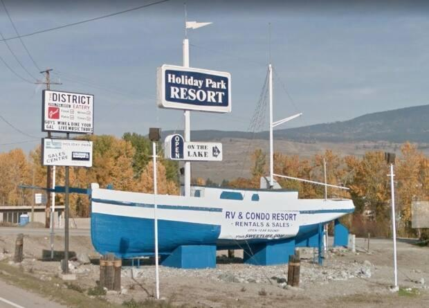 Google Streetview image of  the sailboat before Thursday's fire.