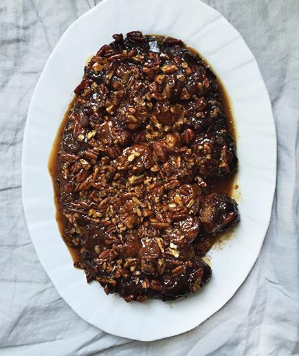 <p>Whip out the slow cooker for this gooey, decadent breakfast bread, studded with pecans and cinnamon.</p>