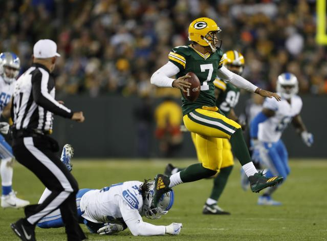 Green Bay Packers' Brett Hundley struggled again in his second career start. (AP)