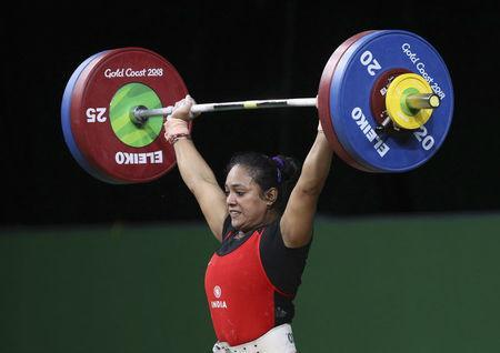 Weightlifting - Gold Coast 2018 Commonwealth Games - Women's 69kg Final - Carrara Sports Arena 1 - Gold Coast, Australia - April 8, 2018. Punam Yadav of India competes. REUTERS/Athit Perawongmetha