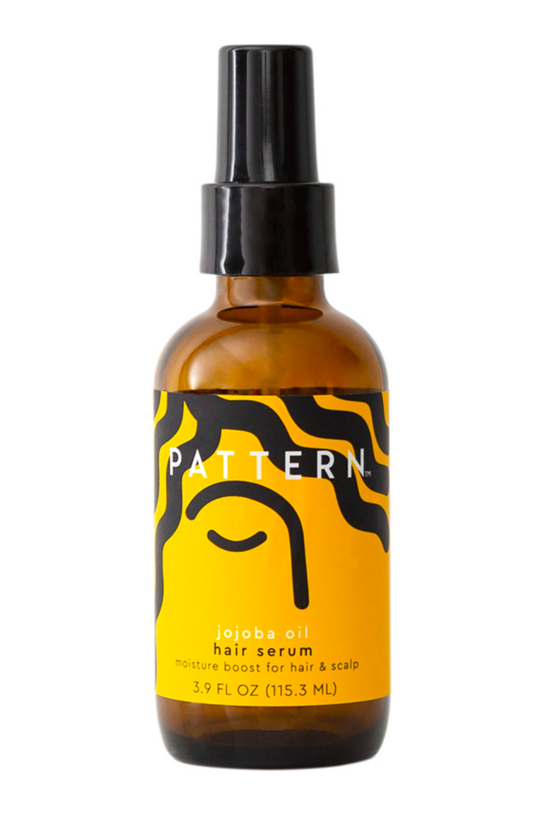 """<p><strong>PATTERN</strong></p><p>ulta.com</p><p><strong>$25.00</strong></p><p><a href=""""https://go.redirectingat.com?id=74968X1596630&url=https%3A%2F%2Fwww.ulta.com%2Fjojoba-oil-hair-serum%3FproductId%3Dpimprod2009736&sref=https%3A%2F%2Fwww.cosmopolitan.com%2Fstyle-beauty%2Fbeauty%2Fg35265911%2F4a-hair-products%2F"""" rel=""""nofollow noopener"""" target=""""_blank"""" data-ylk=""""slk:Shop Now"""" class=""""link rapid-noclick-resp"""">Shop Now</a></p><p>Once your hair is coated with your leave-in and/or curl cream, <strong>l</strong><strong>ock in all that hydration with a generous layer of <a href=""""https://www.cosmopolitan.com/style-beauty/beauty/g33278431/best-curly-hair-gels/"""" rel=""""nofollow noopener"""" target=""""_blank"""" data-ylk=""""slk:oil"""" class=""""link rapid-noclick-resp"""">oil</a> </strong>(this one from Pattern is jojoba-based, but coconut, mongongo, and avocado are also excellent options). Distribute a couple pumps of the serum on your hands and gently scrunch into your hair to make sure you're coating each strand.</p>"""