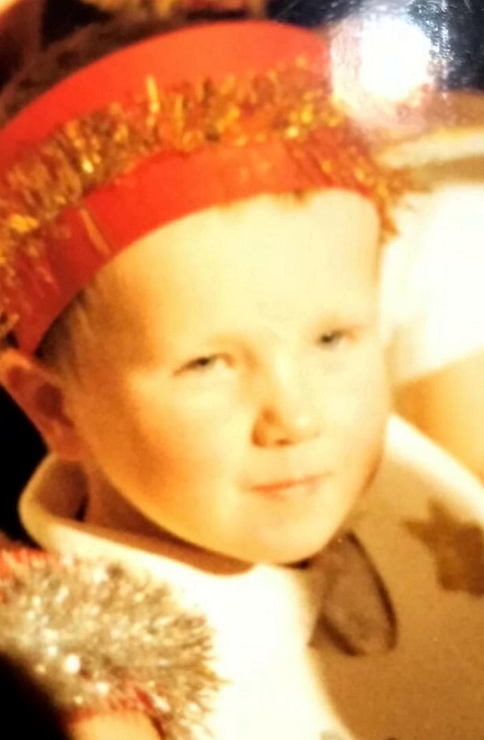 Harry Jenks as a child – dressed up in the nativity at primary school. (SWNS)