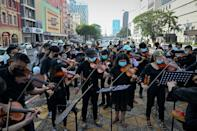 """A Myanmar rebel youth orchestra called """"Generation Z MM"""" has debuted a new anti-coup song called """"Revolution"""""""