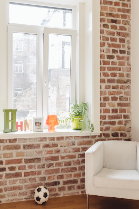 """<p>Skip the smelly <a rel=""""nofollow"""" href=""""http://www.redbookmag.com/home/tips/g1111/spring-cleaning-tips/?"""">cleaning</a> products that, cough, <em>always</em> leave streaks behind, and clean your windows like a pro with a microfiber cloth and water. All it takes is a few horizontal strokes across the base, then wiping with vertical strokes from top to bottom. Just like that, your windows are good as new! </p><p><strong>Get more tips at <a rel=""""nofollow"""" href=""""https://www.merrymaids.com/"""">Merry Maids</a>. </strong></p>"""