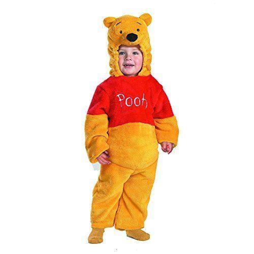 """<p><strong>WINNIE THE POOH</strong></p><p>amazon.com</p><p><strong>$41.03</strong></p><p><a href=""""https://www.amazon.com/dp/B002I6FDII?tag=syn-yahoo-20&ascsubtag=%5Bartid%7C2089.g.2996%5Bsrc%7Cyahoo-us"""" rel=""""nofollow noopener"""" target=""""_blank"""" data-ylk=""""slk:Shop Now"""" class=""""link rapid-noclick-resp"""">Shop Now</a></p><p>Your little honey bear will look like a real-life stuffed animal in this super plush costume. Lined both inside and out with the extra soft material, you won't have to add any extra layers of clothes underneath. </p>"""