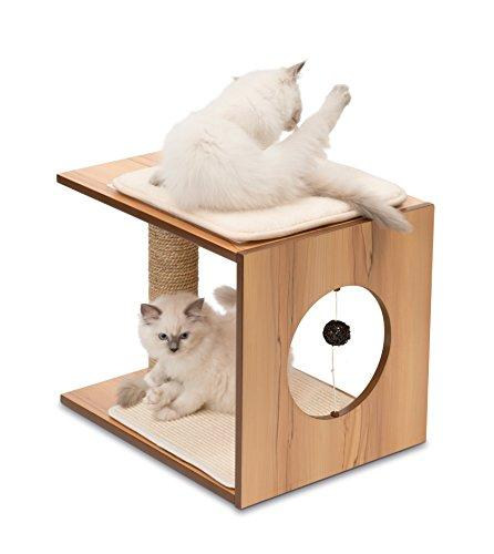 Vesper Cat Tree, Stool, Walnut, 52073 (Amazon / Amazon)