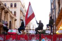 FILE PHOTO: Protest against the fall in Lebanese pound currency and mounting economic hardships in Beirut