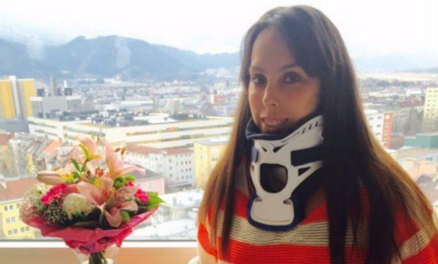 <p>Olympic bronze medal-winning gymnast Beth Tweddle ended up in a neck brace after fracturing two vertebrae following a crashing a collision with a barrier during training. After being airlifted to hospital Beth needed emergency surgery to fuse a piece of her hip bone to her vertebrae, however, was able to make a full recovery. </p>