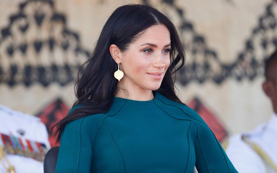 The Duchess of Sussex attends the unveiling of the Labalaba Statue in Nadi, Fiji, in October 2018 - Chris Jackson/Getty Images