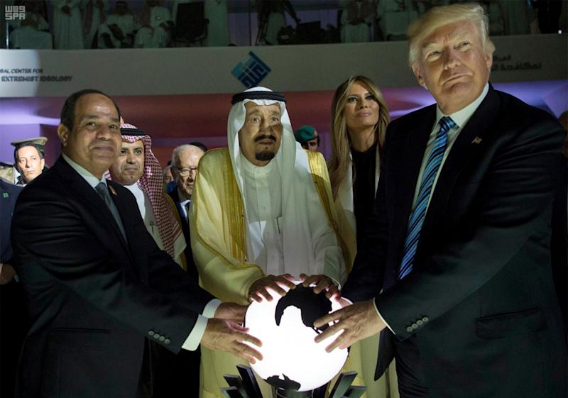 President Trump during his visit to Saudi Arabia