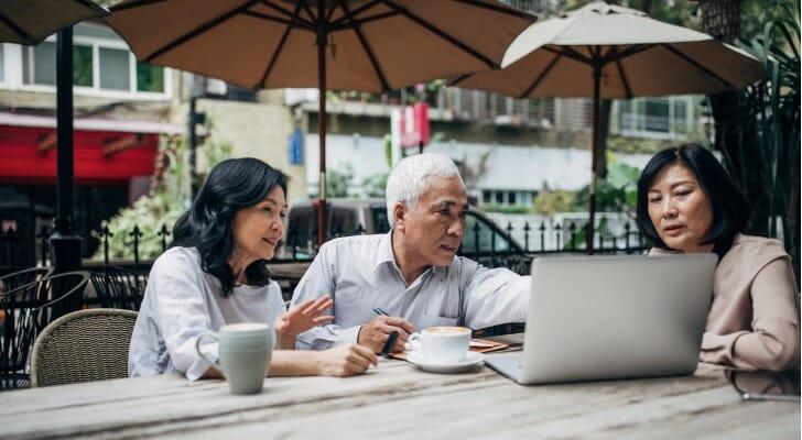 Older couple gets financial advice