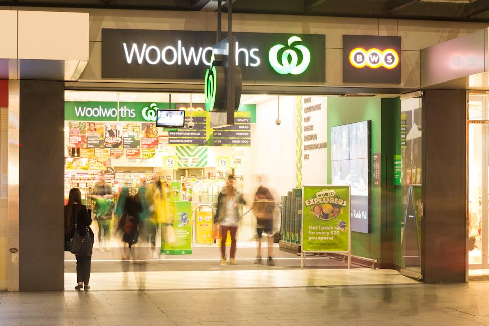 Woolworths store in Rundle Mall is a popular shopping venue for groceries and assorted items such as magazines and batteries.