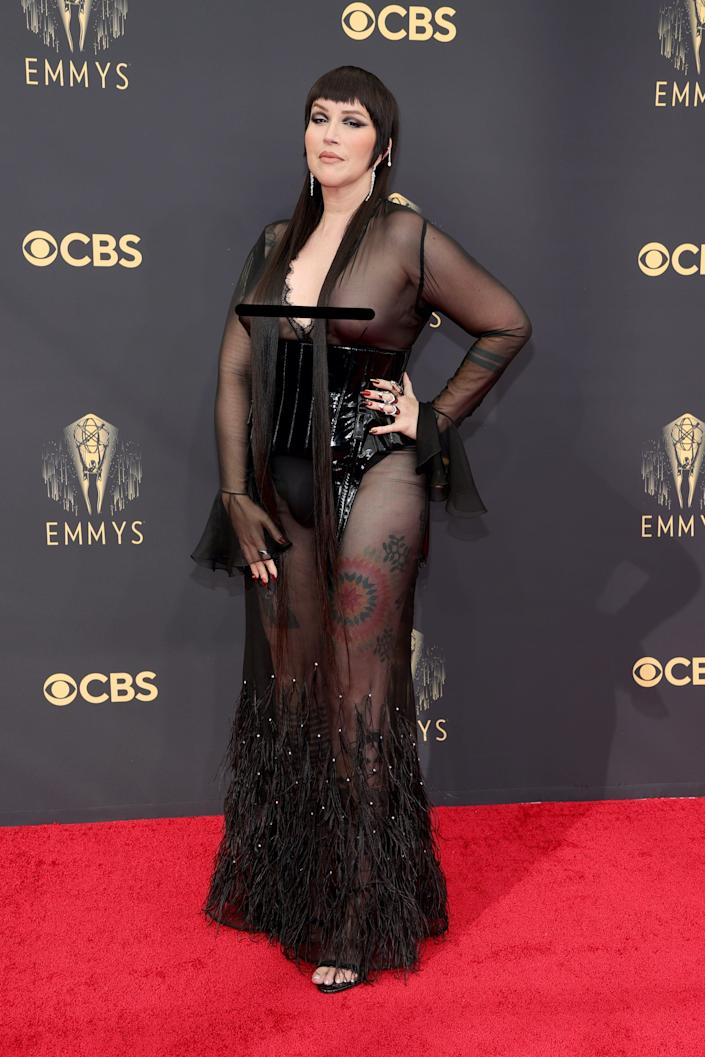 Our Lady J attends the 2021 Emmys.