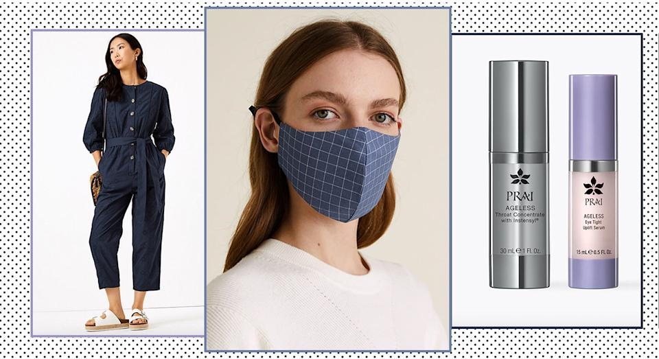 12 of the best new fashion and beauty from M&S: from anti-aging skincare and rainbow dresses. (Marks & Spencer)