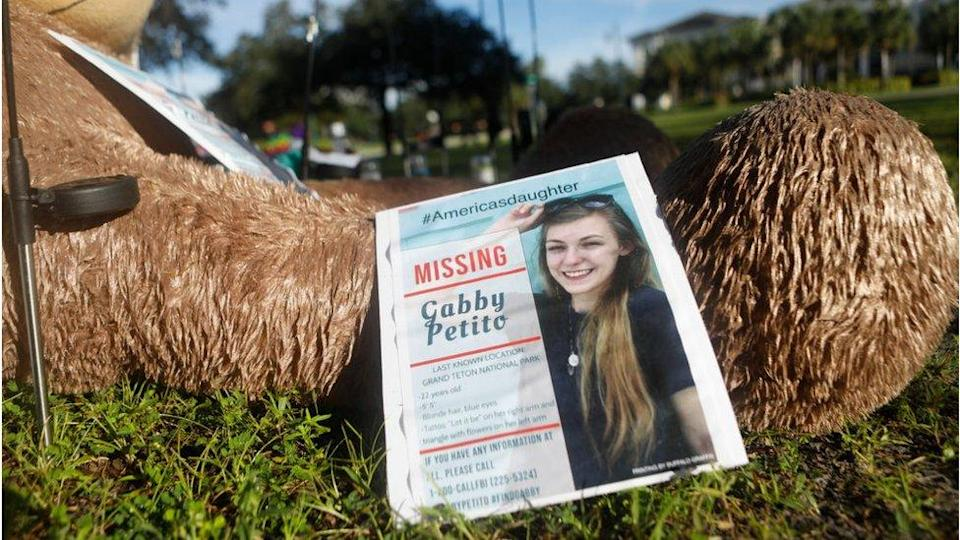 Missing person poster for Gabby Petito