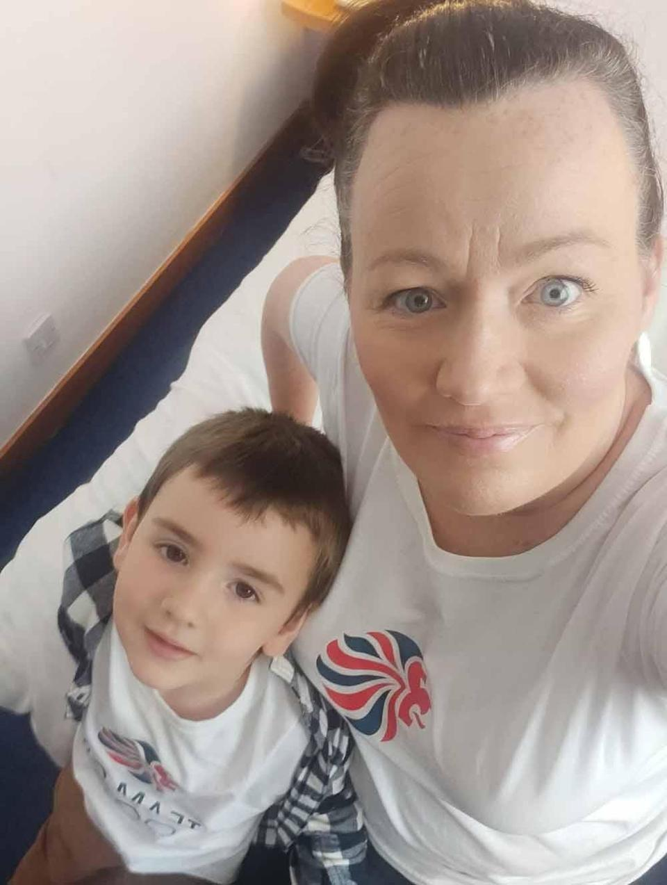 Jemma and her son Magnus, four. PA REAL LIFE COLLECT