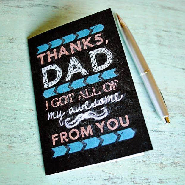 """<p>If you inherited all your awesomeness from your pops, then give him some credit with this blackboard-inspired design. </p><p><em><strong>Get the printable at <a href=""""http://www.ishouldbemoppingthefloor.com/2014/05/free-printable-chalkboard-fathers-day.html"""" rel=""""nofollow noopener"""" target=""""_blank"""" data-ylk=""""slk:I Should Be Mopping the Floor"""" class=""""link rapid-noclick-resp"""">I Should Be Mopping the Floor</a>.</strong></em></p>"""