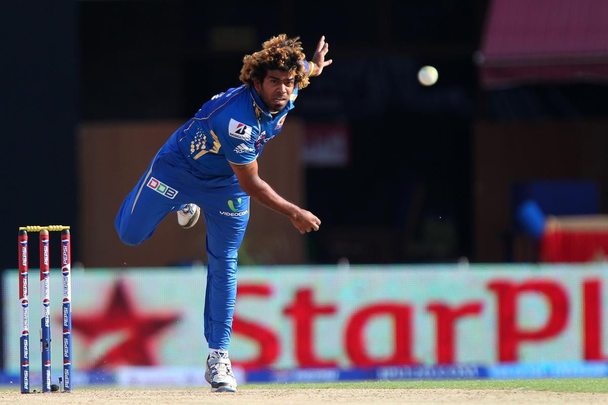 Lasith Malinga during match 69 of the Pepsi Indian Premier League between The Kings XI Punjab and the Mumbai Indians held at the HPCA Stadium in Dharamsala, Himachal Pradesh, India on the on the 18th May 2013. (BCCI)