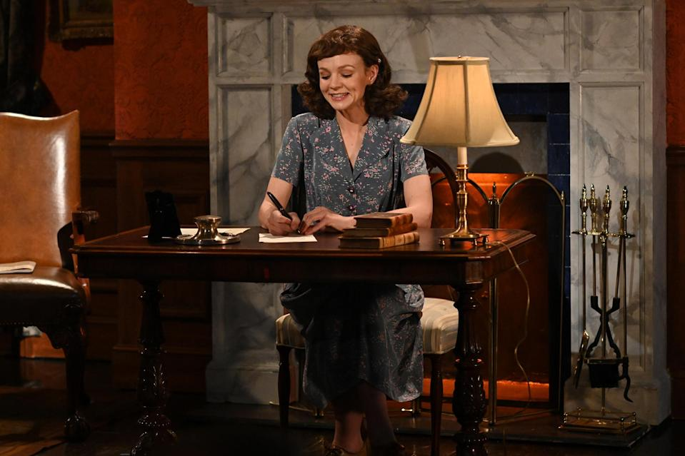 <p>Carey Mulligan appeared in a sketch during her <em>Saturday Night Live</em> hosting debut in New York City.</p>