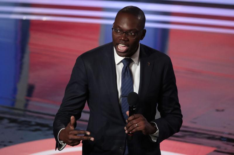 Michigan Lt. Governor Garlin Gilchrist speaks to the audience attending the Democratic Presidential Debate at the Fox Theatre July 31, 2019 in Detroit, Michigan.