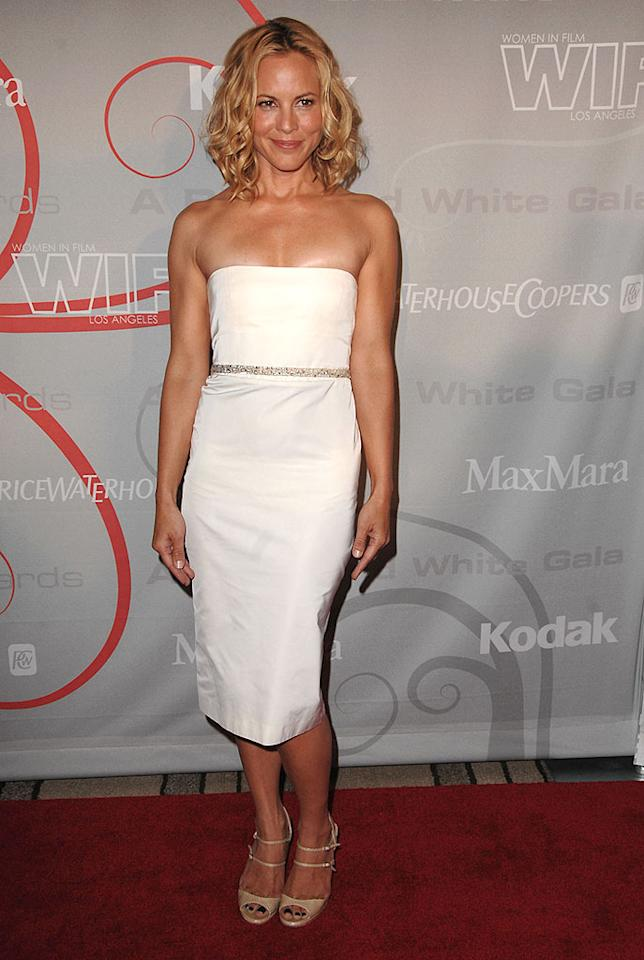 "What is going on with Maria Bello's blue toenails?! Steve Granitz/<a href=""http://www.wireimage.com"" target=""new"">WireImage.com</a> - June 17, 2008"