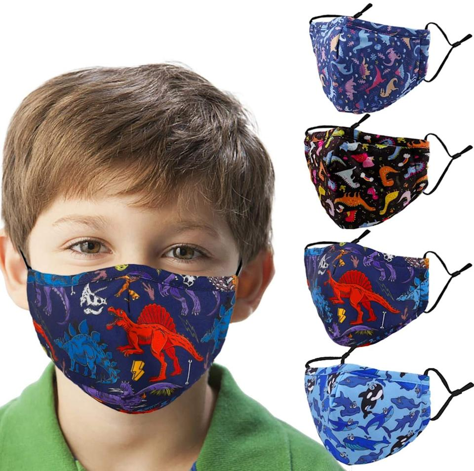 Amazon shoppers agree that the bestselling Kids Reusable Washable Breathable Face Mask are a hit. Image via Amazon.