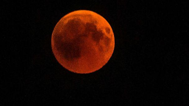 PHOTO: The full moon during a 'blood moon' eclipse as seen from Cairo, July 27, 2018. (Khaled Desouki/AFP/Getty Images)
