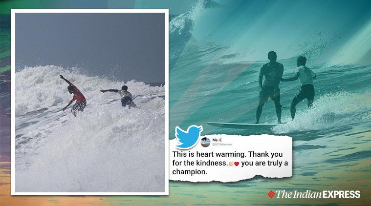 2019 sea games, surfer leaves gold to save competitor, surfer saves rival losing chance at gold, roger casugay, viral news, good news, indian express, sports news
