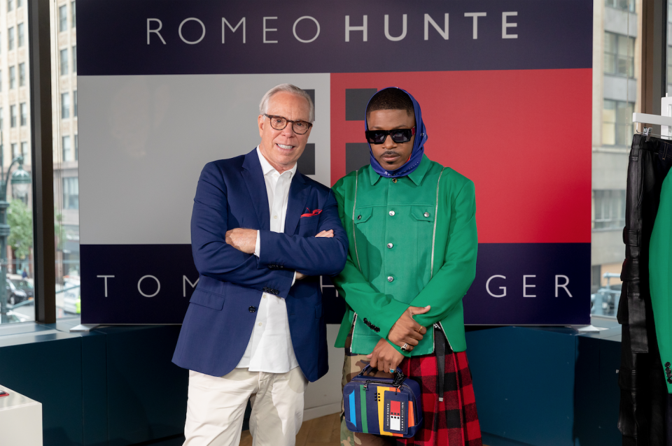 Tommy Hilfiger and Romeo Hunte. - Credit: Courtesy of Tommy Hilfiger