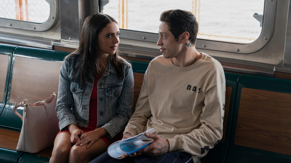Kelsey (Bel Powley) and Scott Carlin (Pete Davidson) in 'The King of Staten Island'. (Credit: Alison Cohen Rosa/Universal)