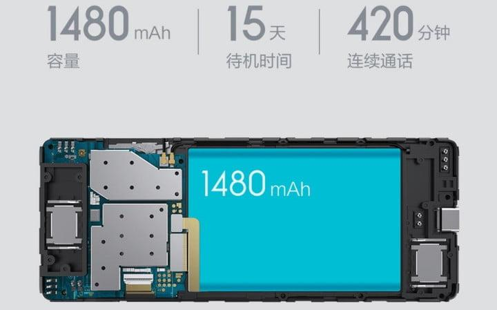 xiaomi qin 1 feature phone news battery